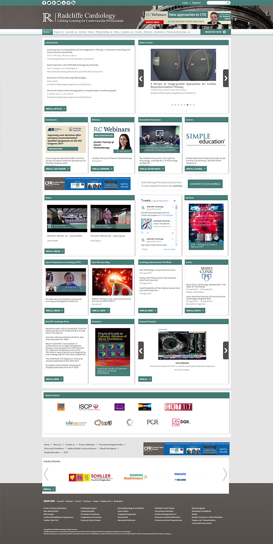 Radcliffe Cardiology Portfolio – Drupal